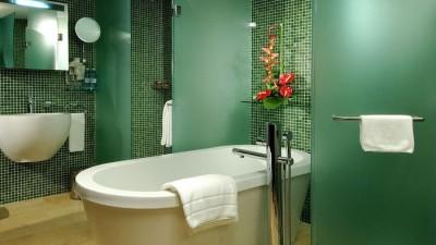 ванна в зеленом цвете
