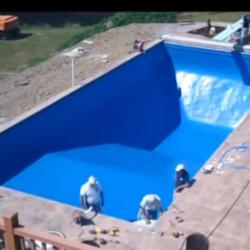 бассейна из композитного стеклопластика